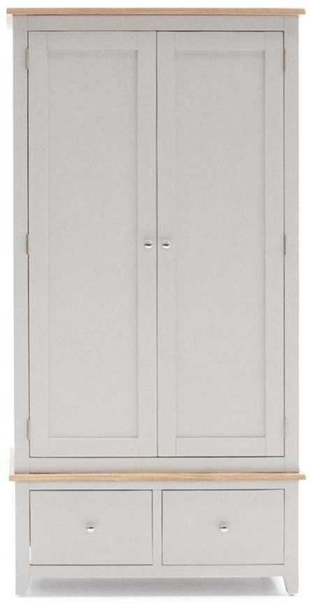 Vida Living Chambery Oak Wardrobe - 2 Door 2 Drawer
