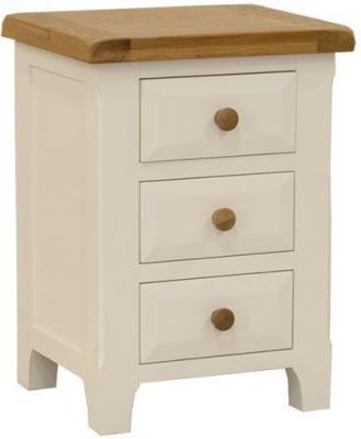 Vida Living Chaumont Ivory Bedside Cabinet - 3 Drawer