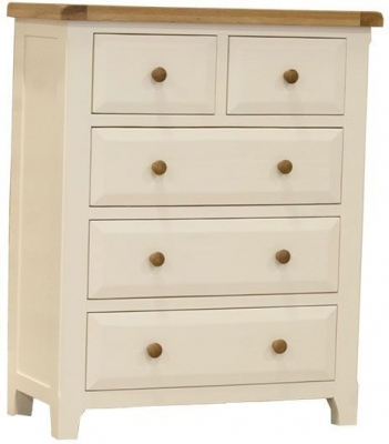 Vida Living Chaumont Ivory Chest of Drawer - 2 Over 3 Drawer Tall