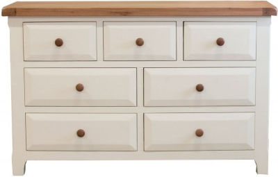 Vida Living Chaumont Ivory Chest of Drawer - 3 Over 4 Drawer