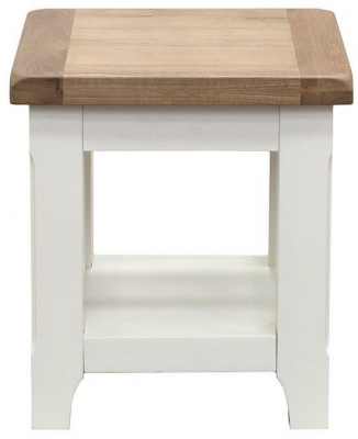 Vida Living Chaumont Ivory End Table