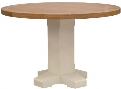 Vida Living Chaumont Ivory Dining Table - Round Pedestal