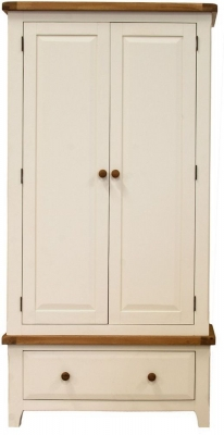 Vida Living Chaumont Ivory Wardrobe - 2 Door 1 Drawer
