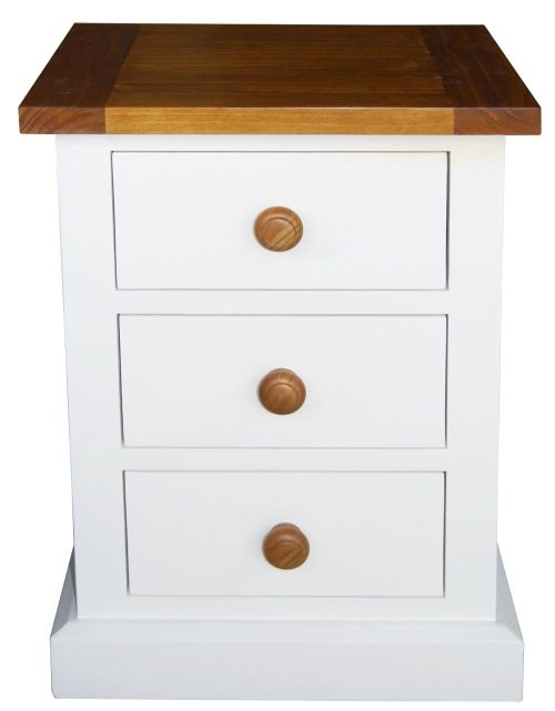 Vida Living Cherbourg Painted Bedside Cabinet - 3 Drawer