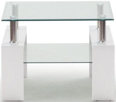 Clearance - Vida Living Calico White End Table - New - FSS9312