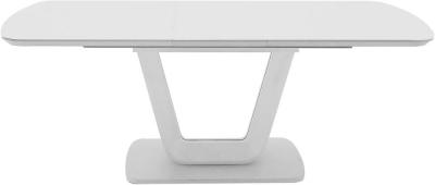 Clearance - Vida Living Lazzaro 160cm-200cm White High Gloss Extending Dining Table - New - E-720