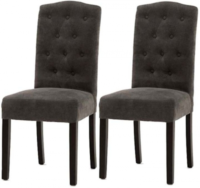 Clearance Vida Living Emerson Dining Chair - Grey (2 Pair) Eme-115-GY