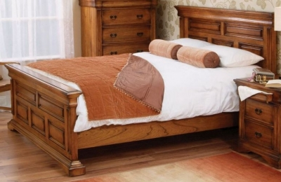 Clearance Vida Living Valentino Oak Bed - 5ft King Size