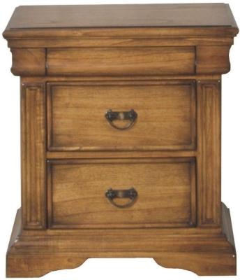 Clearance Vida Living Valentino Oak Bedside Cabinet - 2 Drawer