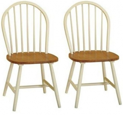 Clearance Vida Living Windsor Buttermilk Dining Chair (Pair) - G517