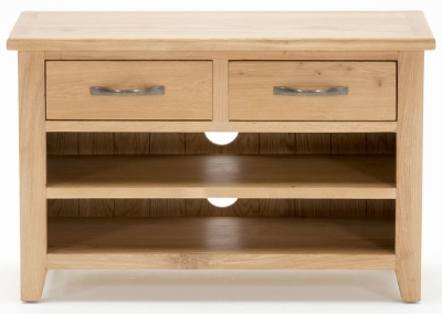 Clearance Vida Living Klara Oak TV Unit - Small - G553