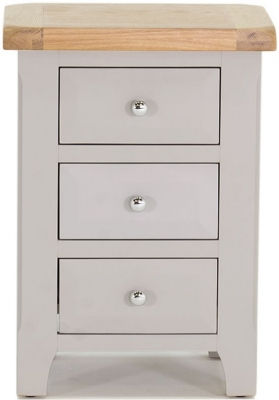 Vida Living Clemence Grey Painted Bedside Cabinet - 3 Drawer