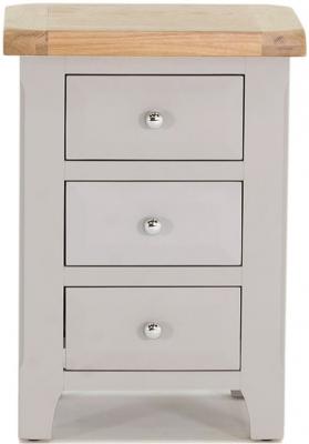 Vida Living Clemence Grey Painted Bedside Cabinet - 3 Drawer