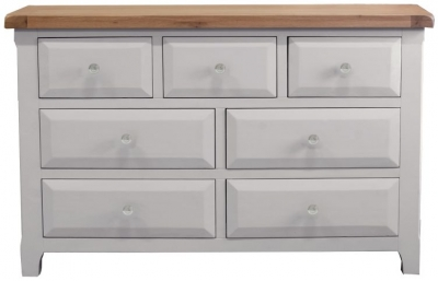 Vida Living Clemence Grey Painted Chest of Drawer - 3 Over 4 Drawer