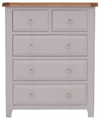 Vida Living Clemence Grey Painted Chest of Drawer - 2 Over 3 Drawer