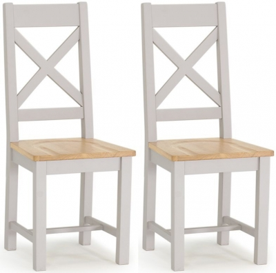 Vida Living Clemence Grey Painted Dining Chair (Pair)