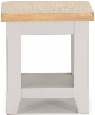 Vida Living Clemence Grey Painted End Table