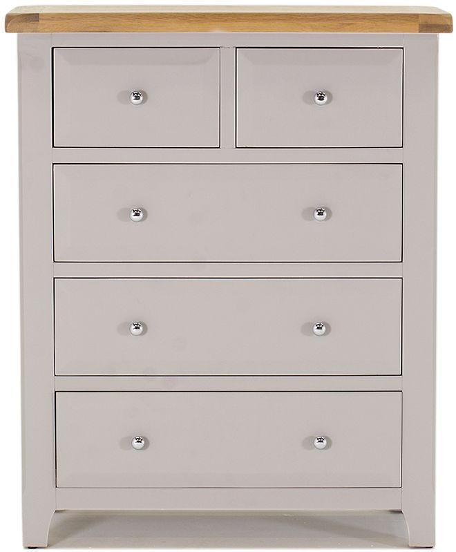 Vida Living Clemence Grey Painted 2+3 Drawer Chest