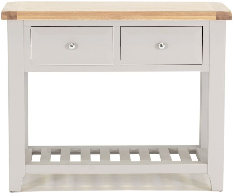 Vida Living Clemence Grey Painted Console Table - Large