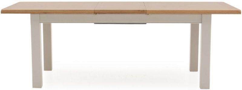 Vida Living Clemence Grey Painted Rectangular Extending Dining Table - 180cm-230cm