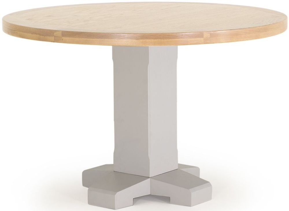 Vida Living Clemence Grey Painted Round Fixed Top Dining Table - 120cm
