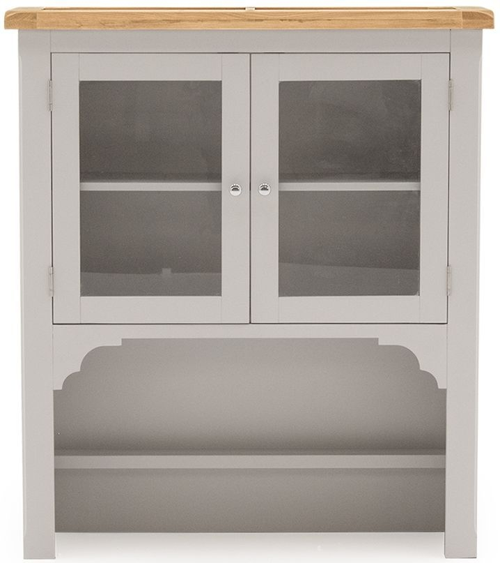 Vida Living Clemence Hutch - Oak and Grey Painted