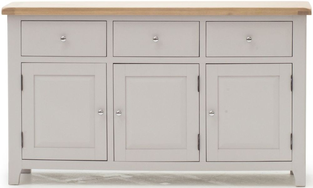 Vida Living Clemence Grey Painted Sideboard - Large