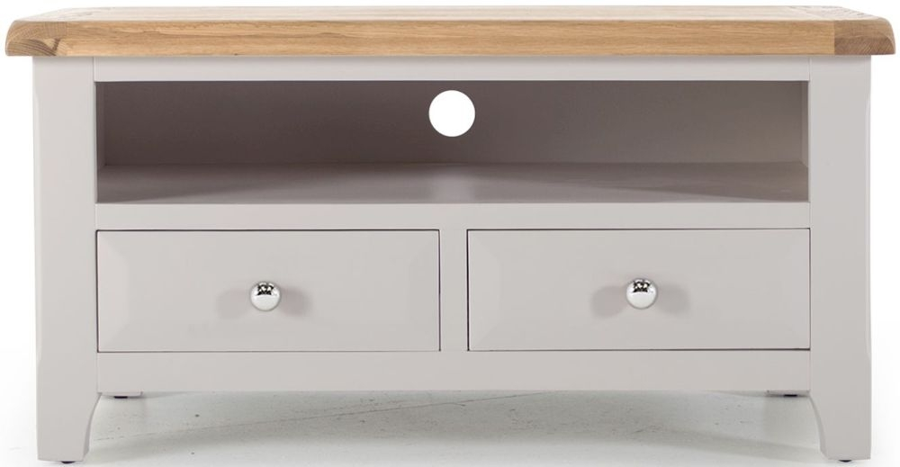 Vida Living Clemence Grey Painted TV Unit - Corner