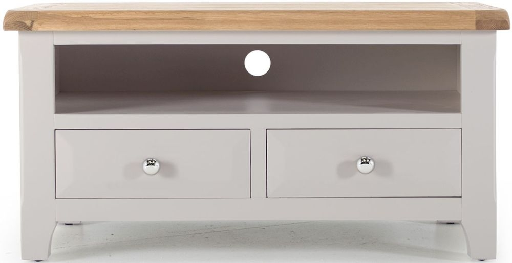 Vida Living Clemence Grey Painted TV Unit - Rectangular