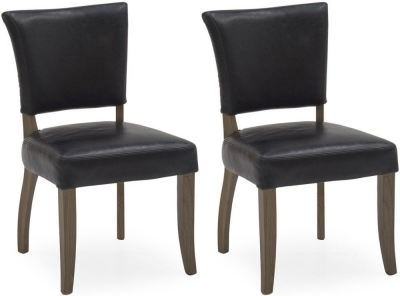 Vida Living Duke Ink Blue Leather Dining Chair (Pair)