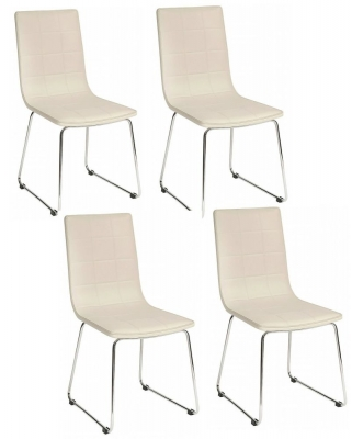Vida Living Enzo White Dining Chair (Set of 4)