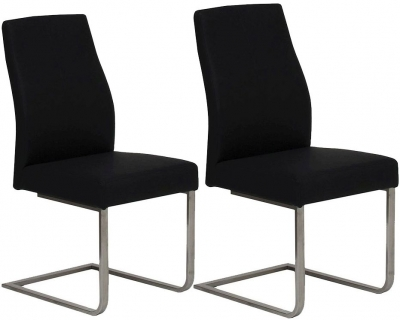 Vida Living Franco Black Dining Chair (Pair)