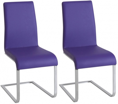 Vida Living Hue Purple Dining Chair (Pair)