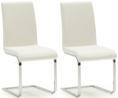 Vida Living Hue White Dining Chair (Pair)