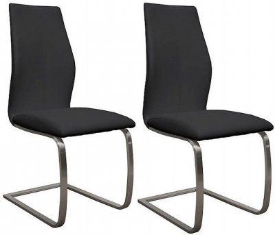 Vida Living Irma Black Dining Chair (Pair)