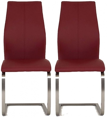 Vida Living Irma Burgundy Dining Chair (Pair)