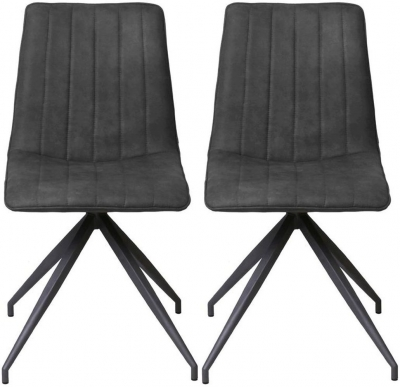Vida Living Isaac Charcoal Dining Chair (Pair)