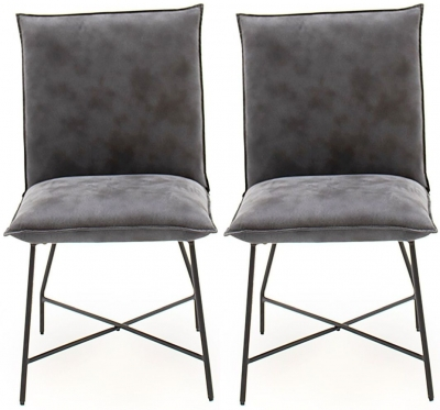 Vida Living Lukas Grey Fabric Dining Chair (Pair)