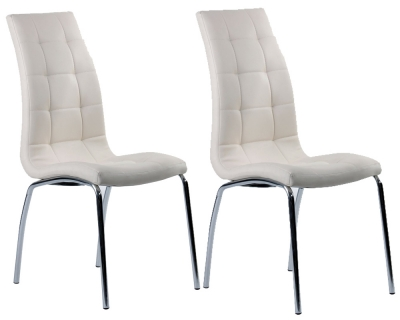 Vida Living Nina Ivory Dining Chair (Pair)