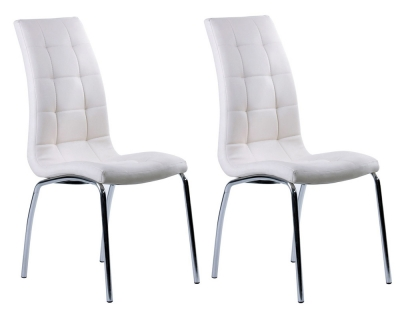Vida Living Nina White Faux Leather Dining Chair (Pair)