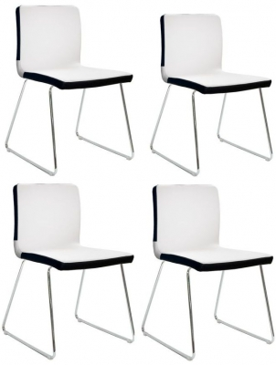 Vida Living Optic White Dining Chair (Set of 4)