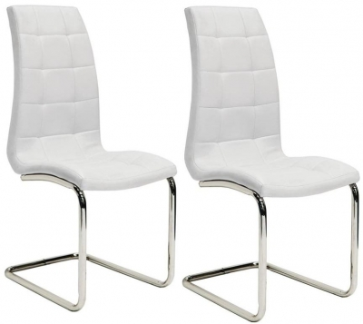 Vida Living Sienna White Dining Chair (Pair)