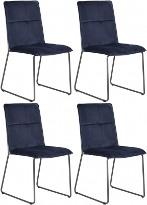 Vida Living Soren Blue Velvet Dining Chair (Set of 4)
