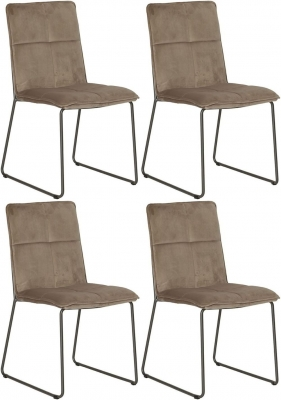 Vida Living Soren Mink Velvet Dining Chair (Set of 4)