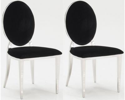 Vida Living Victoria Black Dining Chair (Pair)