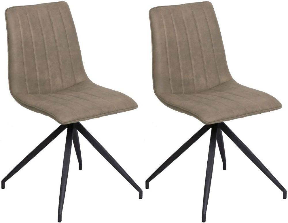 Vida Living Isaac Taupe Fabric Dining Chair (Pair)
