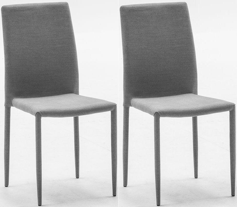 Vida Living Enzo Fabric Dining Chair - Dark Grey (Pair)