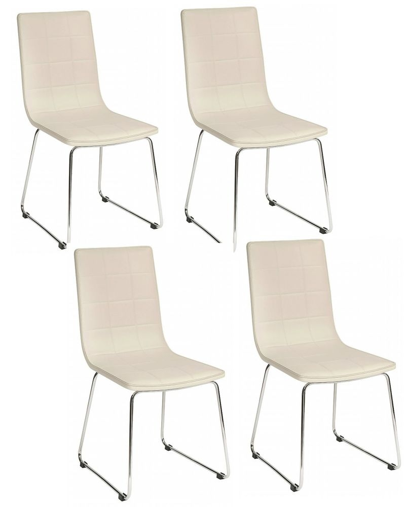 Vida Living Enzo White Dining Chair (Sold in boxes of 4 )