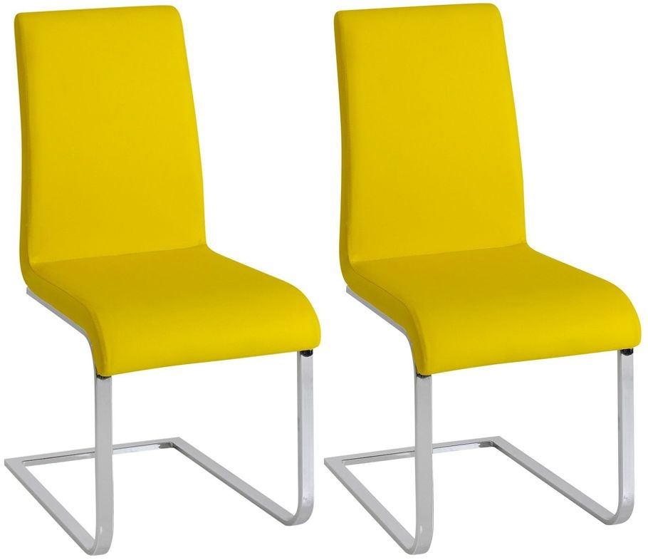Vida Living Hue Yellow Dining Chair (Pair)