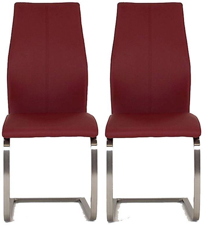Vida Living Irma Burgundy Dining Chair (Pair)